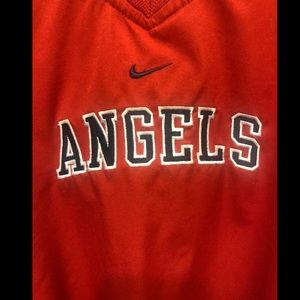 Angels Nike v-neck windbreaker.